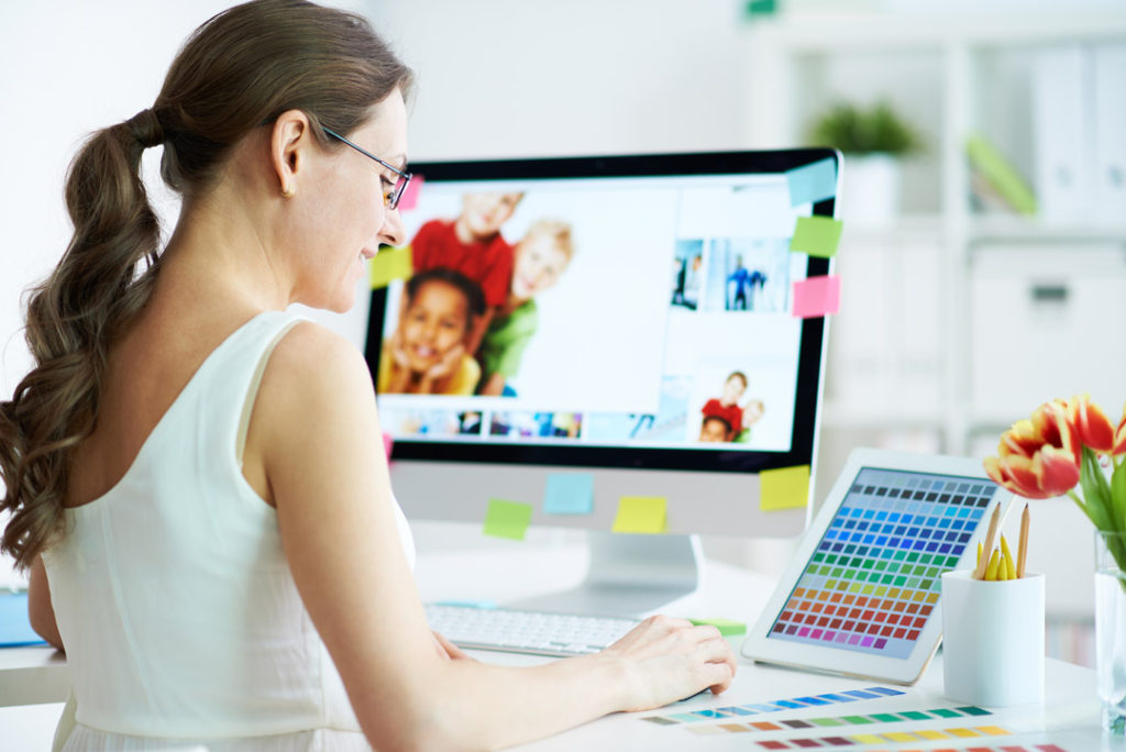Designer at work for WordPress Website Help and Design Cheap